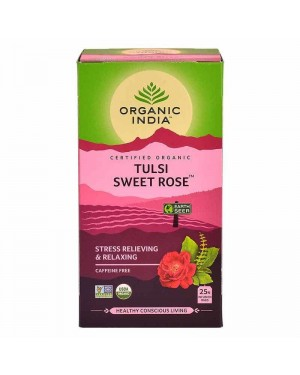 Organic India Tulsi Sweet Rose 18 Tea Bags