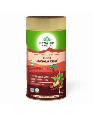 Organic India Tulsi Masala Chai Tin 100 Gram